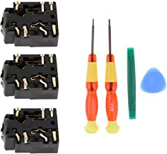 F Fityle 3Pack 3.5mm Port Jack Headphone Component Port + Screwdriver Disassemble Tools for Xbox One S Controllers