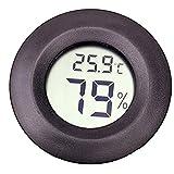 Aosnow デジタル温湿度計 コンパクト 温度計湿度計 室外・室内温湿度計 はめ込み式  (ブラック)