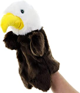 Finger Pocket Plush Toy Plush Toy Animal Hand Puppet Doll Nursery Tale Props Family Parent-Child Interaction Dolls Super Cute ( Color : Eagle , Size : 25cm )
