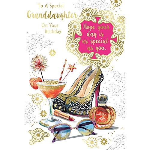 to A Special Granddaughter On Your Birthday Celebrity Style Greeting Card