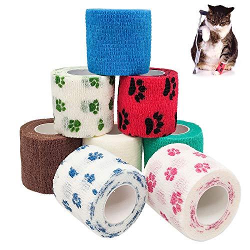 Bakiauli Vendaje Athletic Tape, color adhesivo, para mascotas (9 unidades de 5 x 4,5 cm)