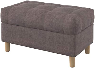 Amazoncom Homepop K6138 B231 Ainsley Linen Button Tufted Storage
