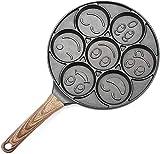 Pancake Pan antiaderente con faccine sorridenti a sette fori per pancake Maker professionale da cucina per la tua colazione fatta in casa
