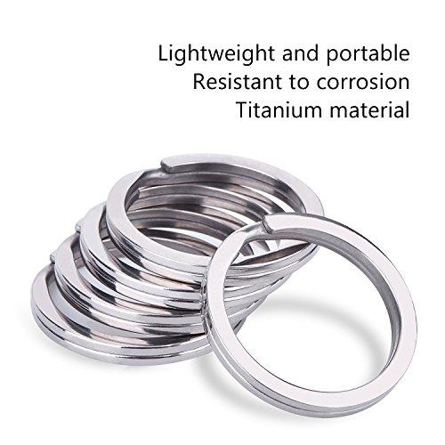Outus 32 mm Titanium Key Rings Split Rings, 5 Pack Photo #4
