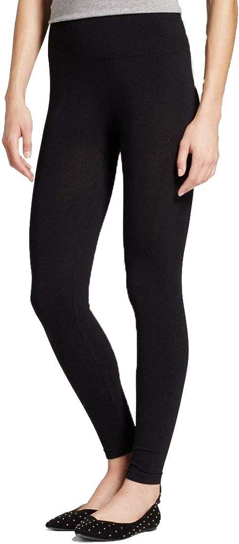 Xhilaration Women's High Waist Cotton Blend Seamless Leggings - (Black) - (S/M)