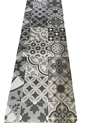 Tappeto cucina a metraggio PVC largo 50 cm marmette cementine azulejo (ARABESCO62021)
