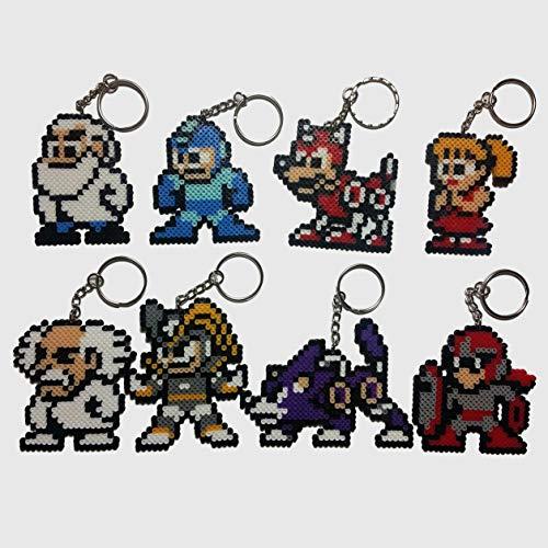 Mega Man Family Perler Art Set/Pixel Art Keychains
