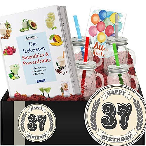 Geschenkidee 37. Geburtstag - DIY Geschenk Shakes - Geschenke 37 Männer