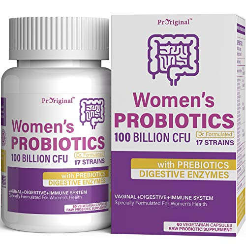 100 Billion CFU Probiotic with 17 Live Strains High Strength Vegan Time Release Capsules Probiotic Supplements for a Balanced Digestive System and Gut Health, 60 Vegan Capsules