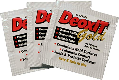 DeoxIT Gold KG1W50 Individual Wipes Contact Cleaner/Enhancer/Protector for Gold Surfaces 30 x 35 50 each Pack of 1