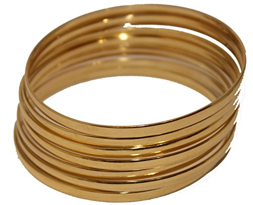 Diamantados of Florida Semanario pulsera brazalete de semanario chapado en oro de 18 quilates, 2 pulgadas x 4 mm