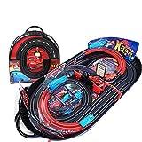 Lihgfw Junge Doppelauto Track Racing Kinderspielzeug Elektrische Fernbedienung Track Kleine Zuggeschichte 3-6 Jahre altes Kinderspielzeug (Color : Schwarz)