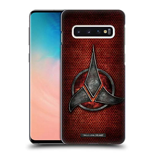 Head Case Designs Officially Licensed Star Trek Empire Klingon Badges Hard Back Case Compatible with Samsung Galaxy S10