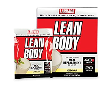 Labrada Lean Body Meal Replacement Powder Vanilla Ice Cream 2.78 Ounce 20 Count