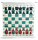 "The House of Staunton 28"" Slotted-Style Vinyl Demo Chess Set with Deluxe Carrying Bag"