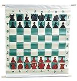 """Materials Used: Vinyl Board Finish: Matte Chess Board Square Size: 3"""" Squares Board Dimensions: 28"""""""