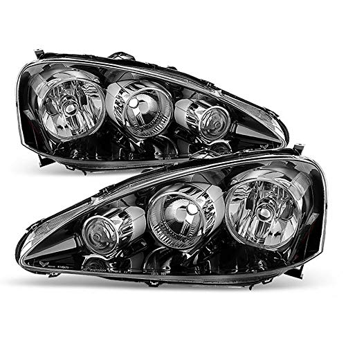 Left + Right Side Front Headlights Assembly for 2005 2006 Acura RSX Type S DC5