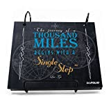 Gone For a Run BibFOLIO Race Bib Album | Bib Holder The Journey of A Thousand Miles | Blue...