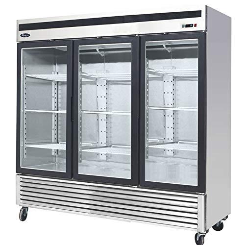 Atosa R290 - Armario refrigerado con cristal positivo, 3 puertas, 2050 L, 3 puertas