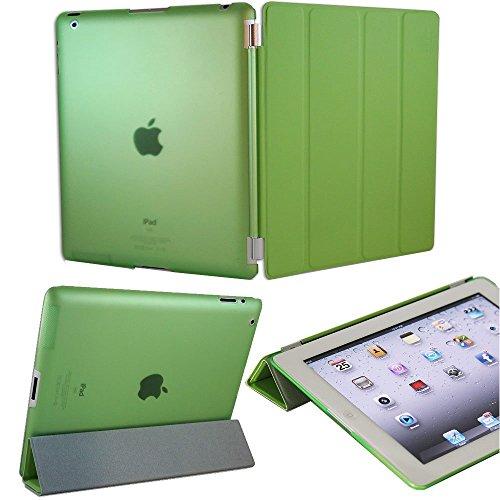 KHOMO Dual CASE Green Cover Front + Green Crystal Back Protector for Apple iPad 2, iPad 3 & iPad 4 (The New iPad HD) Photo #4