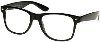 ويب ديلز ريترو - نظارات شمسية كلاسيكية نمط الثمانينات مستطيلة (أسود لامع وشفاف)....