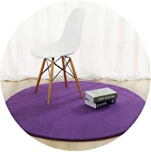 Area Carpet Round Carpet Nursery Rugs Carpets Modern Minimalist Solid Color Short Plush Computer Chair Swivel Chair Cushio...