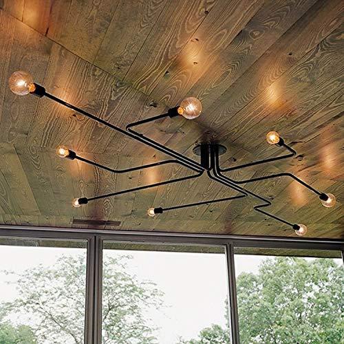 Lampada da soffitto a sospensione moderna in ferro battuto di Edison 8 luci a sospensione a semi vintage