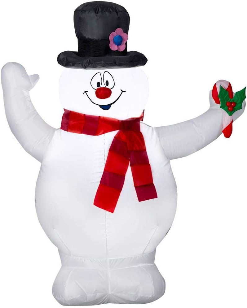 Gemmy Ranking TOP16 Christmas Large discharge sale Inflatable 3.5' Frosty Scarf Snowman with The an