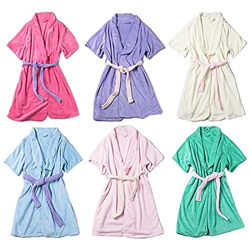Toalla De Baño, Bata De Toalla, Suave, Usable, De Color Sólido, para Dormir, Albornoz, Ropa De Casa Informal para Mujer