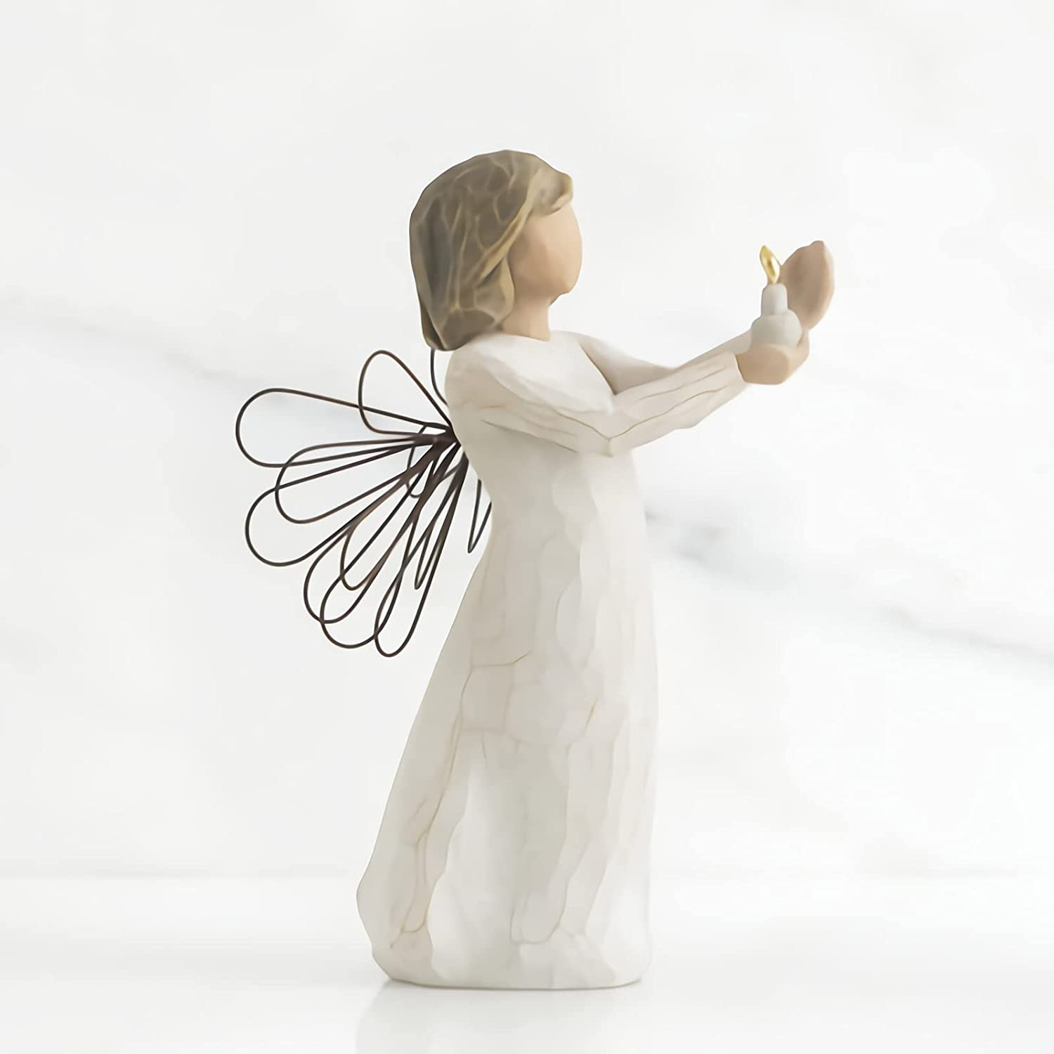 Guardian Angel Free shipping on posting reviews Figurine Fashionable Prayer Coll Holding Candle