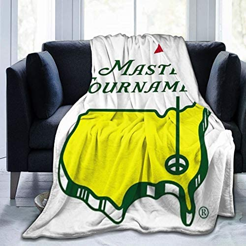 LASWEGA Masters PGA Augusta National Golf Club Vertical Flag Fleece Sofa Blanket Lightweight product image