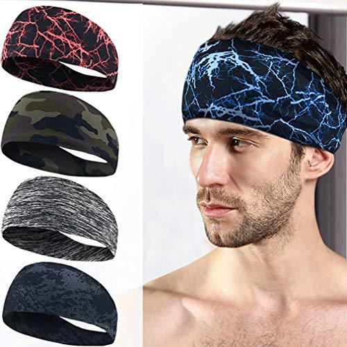 Absorberende Fietsen Yoga Sport Sweat hoofdband Mannen Zweetband voor mannen en vrouwen Yoga haarbanden Head Sweat Bands Sport Veiligheid 3pcs