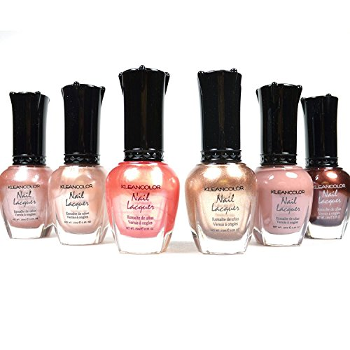 Kleancolor Nail Polish Natural Nude Beige Colors Lot of 6! Lacquer Collection + Free Earring Gift