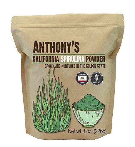 Anthony's California Spirulina Powder, 8 oz, Product of USA, Gluten Free, Non GMO