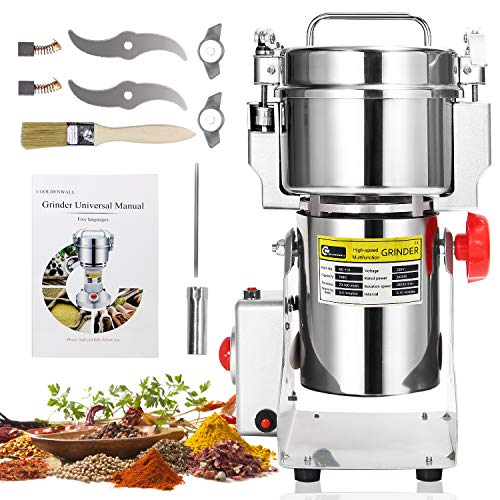CGOLDENWALL 700g Electric Grain Grinder 30s Superfine Stainless Steel Spice Mill...