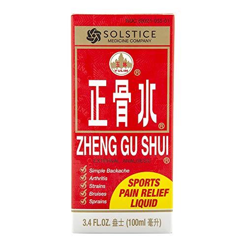 Zheng Gu Shui External Analgesic Relief of Muscle, Joint, Back Pains (3.4 Fl Oz) (1 Bottle) (Solstice)