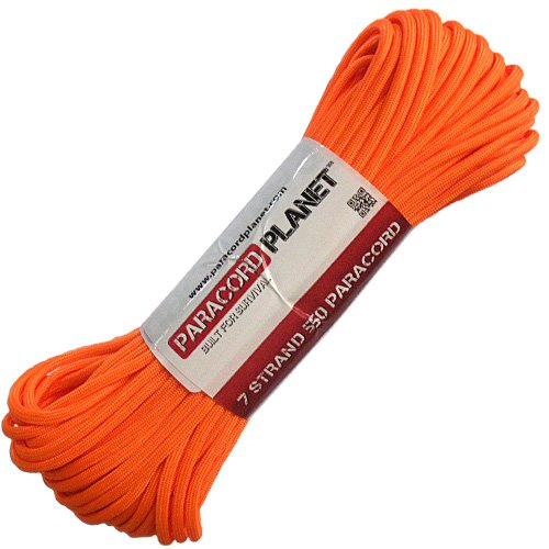 Great Deal! PARACORD PLANET Mil-Spec Commercial Grade 550lb Type III Nylon Paracord (Orange, 100 fee...