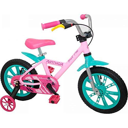 Bicicleta Infantil Aro 14 First Pro Feminina, Nathor, Multicor, Tamanho único