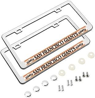 2 Pack MLB Premium Stainless Steel License Plate Frame