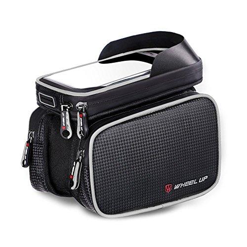 Borsa per telaio bici, Supporto per telefono per bicicletta, XPhonew Ciclismo Anteriore Tubo superiore Supporto manubrio per borsa per borsa per iPhoneXS MAX XR X 8 7 Plus Smartphone fino a 6.2''