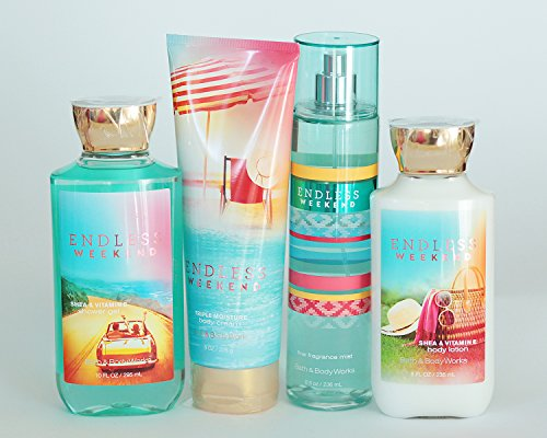 Bath and Body Works Endless Weekend Gift Set of Shower Gel,...