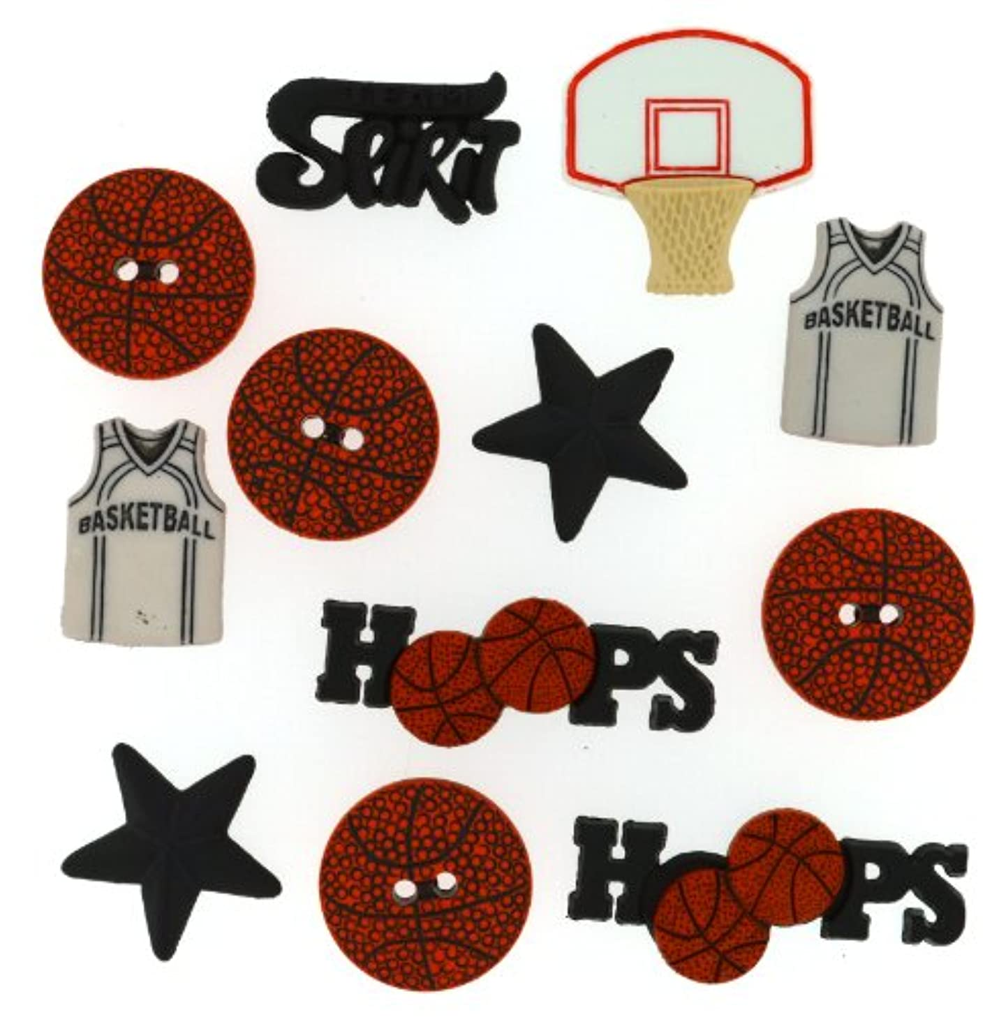 Dress It Up 421 Basketball Embellishment for Crafts
