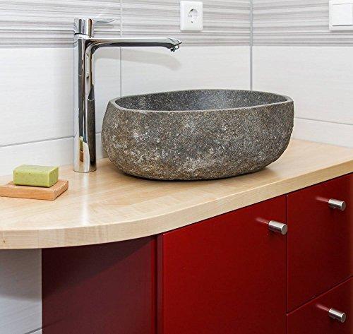 wohnfreuden Steinwaschbecken 40 cm Naturstein Waschbecken ✓ Unikatauswahl nach dem Kauf