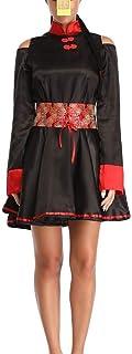 Costume da Cadavere Cinese A Maniche Corte per Donna Cosplay di Halloween Gioca A Abito Lungo Zombie Cosplay Suit Funny Sc...