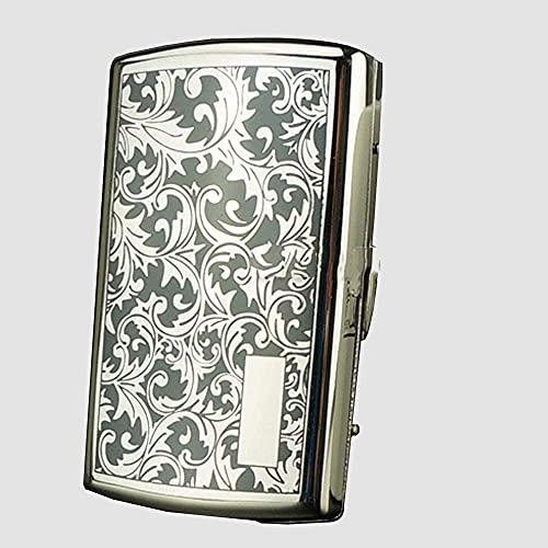XIAOXIA Puede contener 12 cigarrillos macho y hembra de metal estuche compacto portátil automático de cigarrillos (color : B)