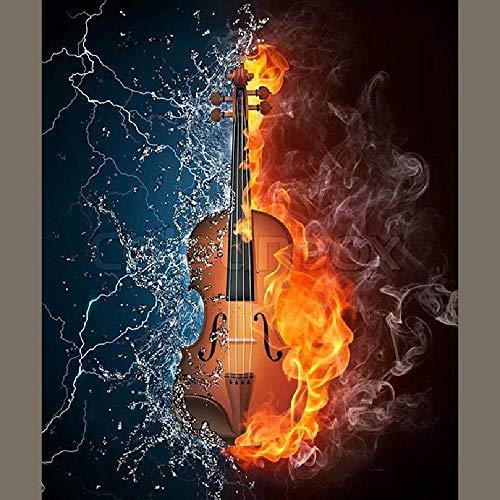 GAGALAM Puzzel Für Erwachsene Holzpuzzle Wasser Und Brennende Geige Kinder Oder Freunde