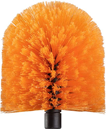 Cobweb Duster Head Brush // Big and Puffy Spider Web Brush for Outdoor & Indoor Web Cleaning // Twist-On Corner Duster Fits Standard Acme Threaded Extension Poles // Best Cobweb Brush Head (No Pole)