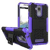 pinlu® Custodia per ASUS ZenFone 3 Max (5.2 Pollice) ZC520TL Smartphone Armatura Rugged Heavy Duty Cover Doppio Strato TPU + PC Antiurto Protettiva Case Pneumatico Modello Porpora
