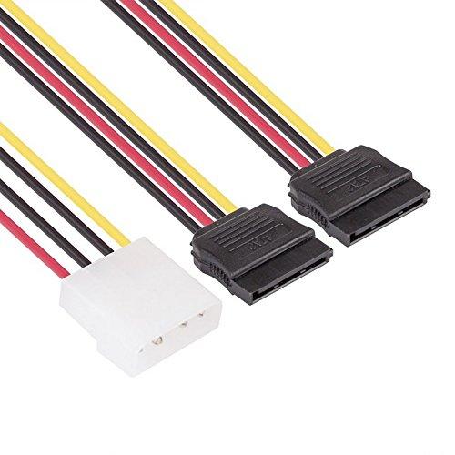 Owlotech OW1023 - Cable Adaptador (Molex 4 Pines M a 2 x SATA 15 Pines)