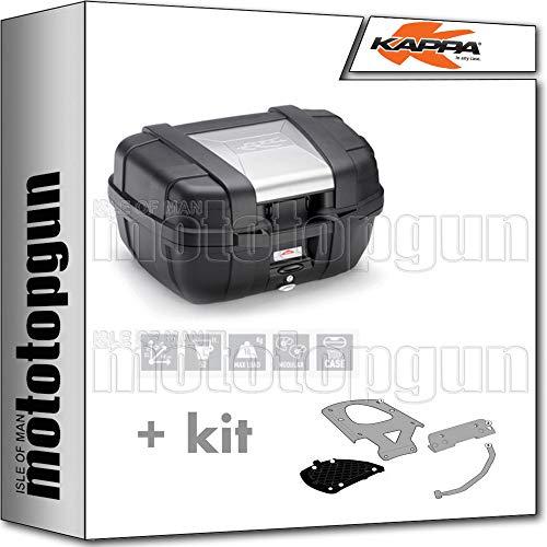 kappa maleta kgr52 garda 52 lt + portaequipaje monokey compatible con benelli trk 502 x 2020 20